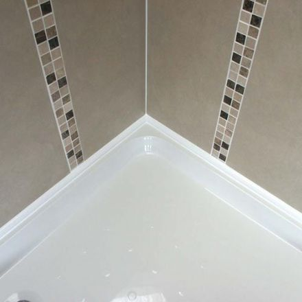 Shower Tray Seal ShowerSeal Ultra 1.25m x 1m x 1.25m  3 Sides